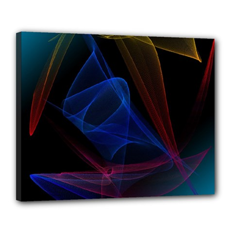 Lines Rays Background Light Pattern Canvas 20  x 16
