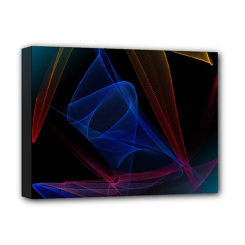 Lines Rays Background Light Pattern Deluxe Canvas 16  X 12