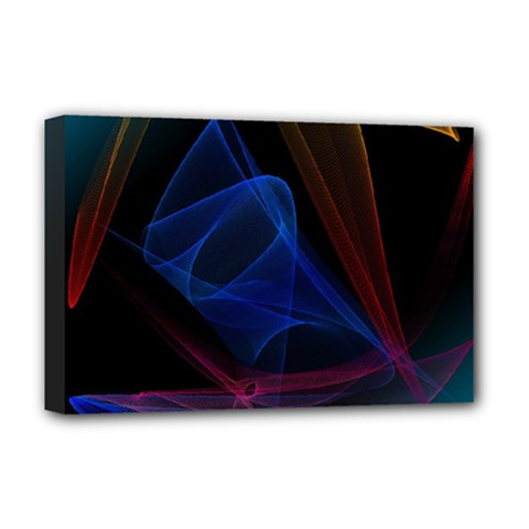 Lines Rays Background Light Pattern Deluxe Canvas 18  x 12