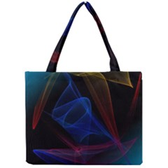 Lines Rays Background Light Pattern Mini Tote Bag