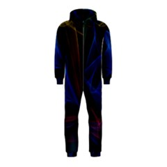 Lines Rays Background Light Pattern Hooded Jumpsuit (Kids)