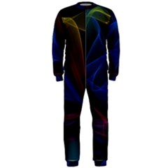 Lines Rays Background Light Pattern OnePiece Jumpsuit (Men)