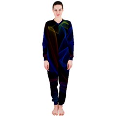 Lines Rays Background Light Pattern OnePiece Jumpsuit (Ladies)