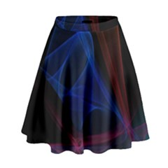 Lines Rays Background Light Pattern High Waist Skirt