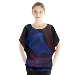 Lines Rays Background Light Pattern Blouse