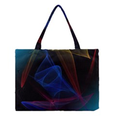 Lines Rays Background Light Pattern Medium Tote Bag