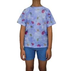 Ladybug Blue Nature Kids  Short Sleeve Swimwear