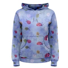 Ladybug Blue Nature Women s Pullover Hoodie