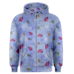 Ladybug Blue Nature Men s Zipper Hoodie