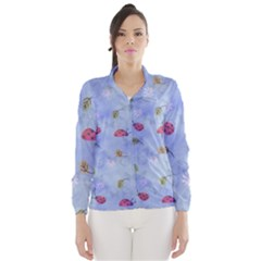 Ladybug Blue Nature Wind Breaker (Women)