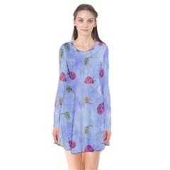 Ladybug Blue Nature Flare Dress