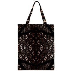 Art Background Fabric Zipper Classic Tote Bag