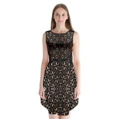 Art Background Fabric Sleeveless Chiffon Dress