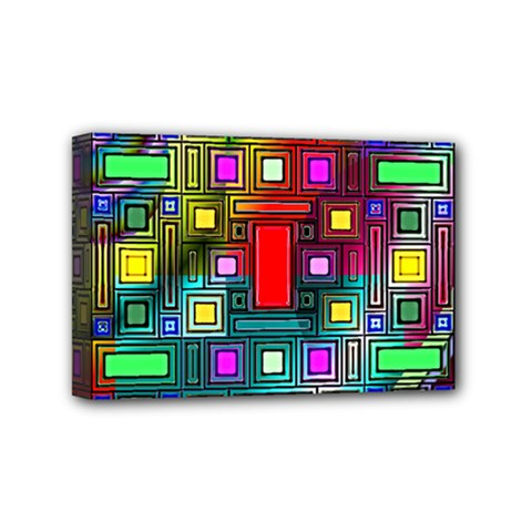 Art Rectangles Abstract Modern Art Mini Canvas 6  x 4