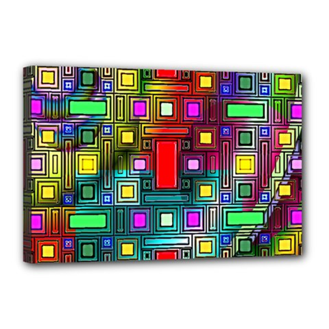 Art Rectangles Abstract Modern Art Canvas 18  x 12