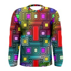 Art Rectangles Abstract Modern Art Men s Long Sleeve Tee