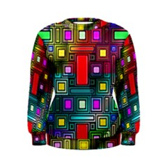 Art Rectangles Abstract Modern Art Women s Sweatshirt