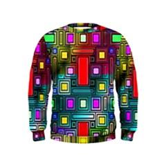 Art Rectangles Abstract Modern Art Kids  Sweatshirt