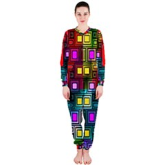 Art Rectangles Abstract Modern Art Onepiece Jumpsuit (ladies)