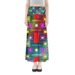 Art Rectangles Abstract Modern Art Maxi Skirts