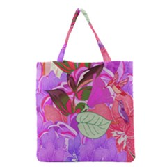 Abstract Flowers Digital Art Grocery Tote Bag