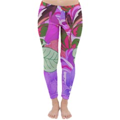 Abstract Flowers Digital Art Classic Winter Leggings