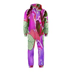 Abstract Flowers Digital Art Hooded Jumpsuit (Kids)