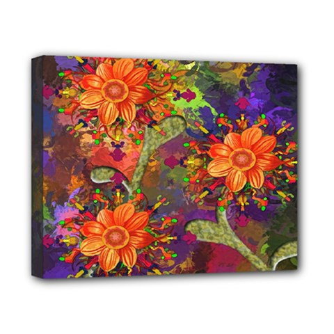 Abstract Flowers Floral Decorative Canvas 10  x 8