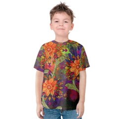 Abstract Flowers Floral Decorative Kids  Cotton Tee