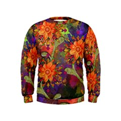 Abstract Flowers Floral Decorative Kids  Sweatshirt