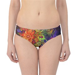 Abstract Flowers Floral Decorative Hipster Bikini Bottoms