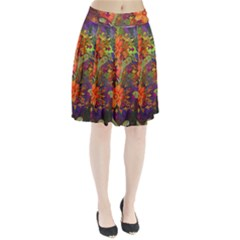 Abstract Flowers Floral Decorative Pleated Skirt