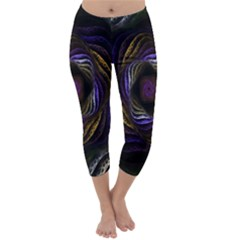 Abstract Fractal Art Capri Winter Leggings