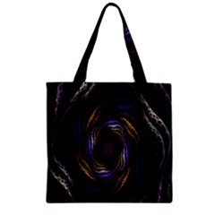 Abstract Fractal Art Zipper Grocery Tote Bag