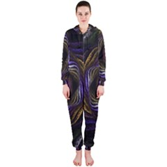Abstract Fractal Art Hooded Jumpsuit (ladies)