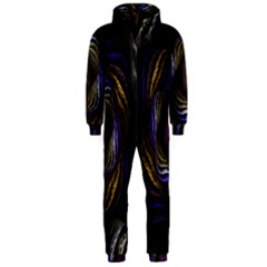 Abstract Fractal Art Hooded Jumpsuit (men)