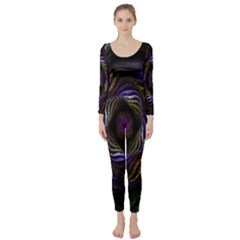 Abstract Fractal Art Long Sleeve Catsuit