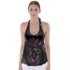 Abstract Fractal Art Babydoll Tankini Top