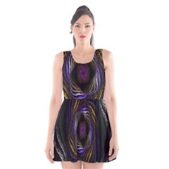 Abstract Fractal Art Scoop Neck Skater Dress
