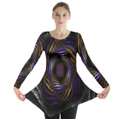 Abstract Fractal Art Long Sleeve Tunic