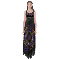 Abstract Fractal Art Empire Waist Maxi Dress