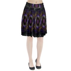 Abstract Fractal Art Pleated Skirt