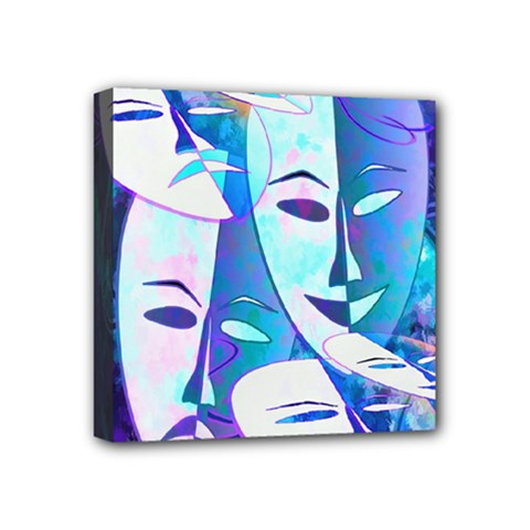 Abstract Mask Artwork Digital Art Mini Canvas 4  x 4