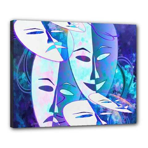 Abstract Mask Artwork Digital Art Canvas 20  x 16