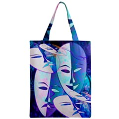 Abstract Mask Artwork Digital Art Zipper Classic Tote Bag