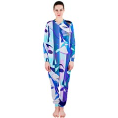 Abstract Mask Artwork Digital Art Onepiece Jumpsuit (ladies)