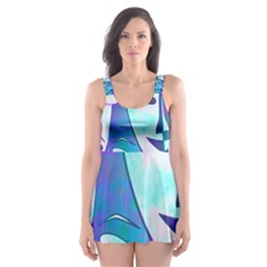 Abstract Mask Artwork Digital Art Skater Dress Swimsuit