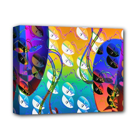 Abstract Mask Artwork Digital Art Deluxe Canvas 14  x 11