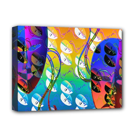 Abstract Mask Artwork Digital Art Deluxe Canvas 16  x 12