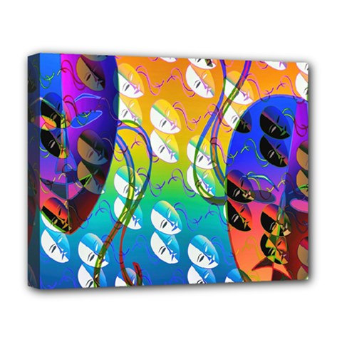 Abstract Mask Artwork Digital Art Deluxe Canvas 20  X 16